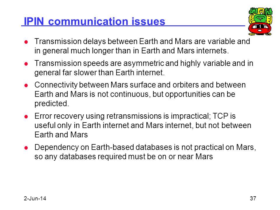 IPIN communication issues