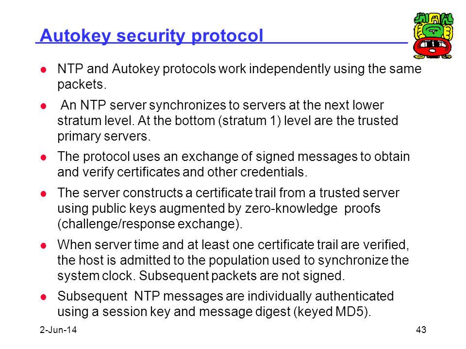 Autokey security protocol