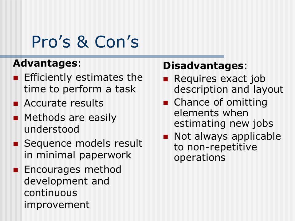 Pro's & Con's Advantages: Disadvantages: