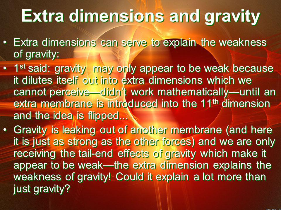 Extra dimensions and gravity