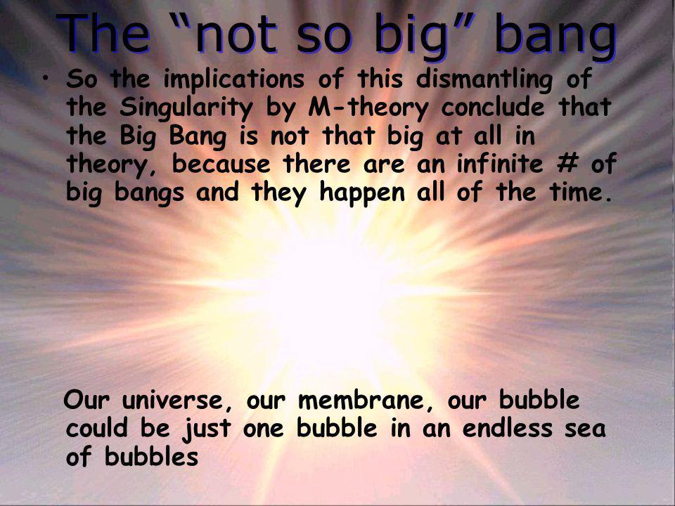 The not so big bang