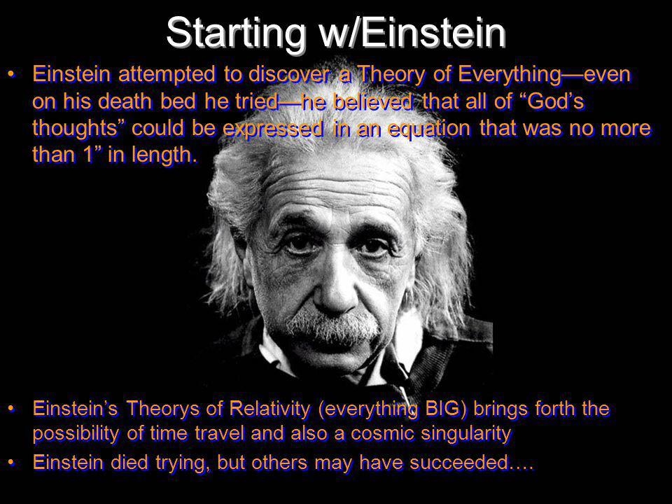 Starting w/Einstein