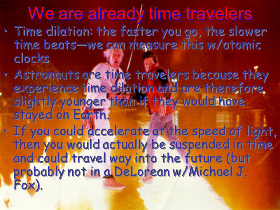 We are already time travelers
