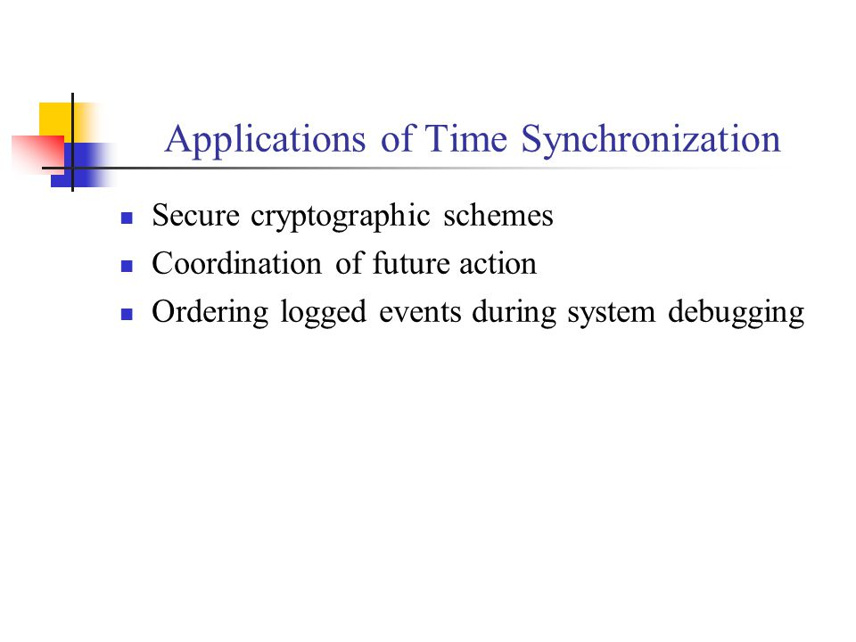 Applications of Time Synchronization