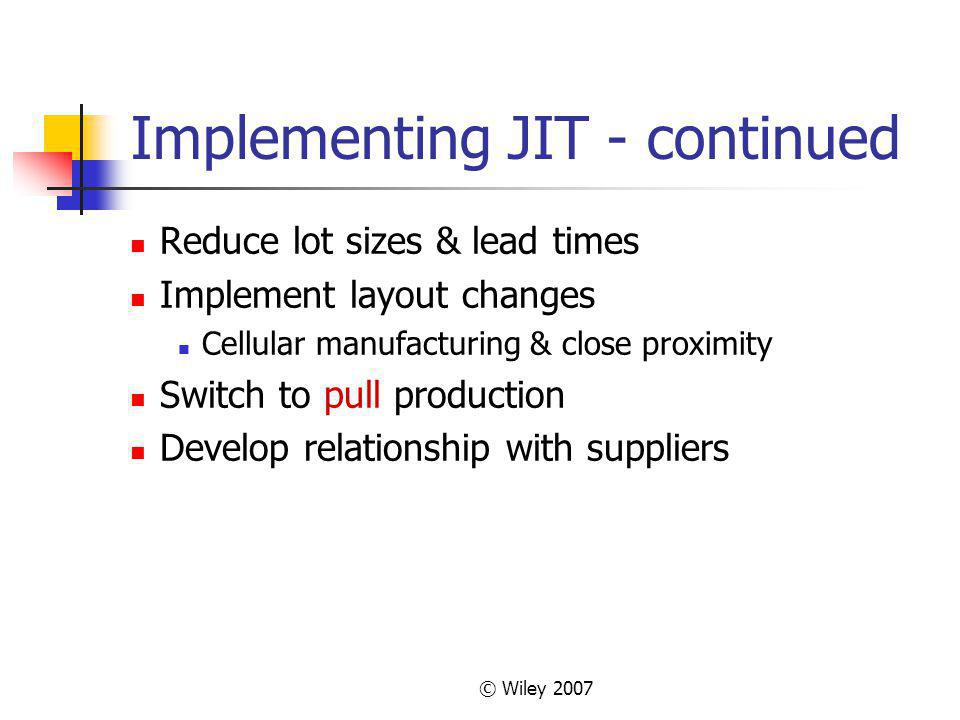 Implementing JIT - continued