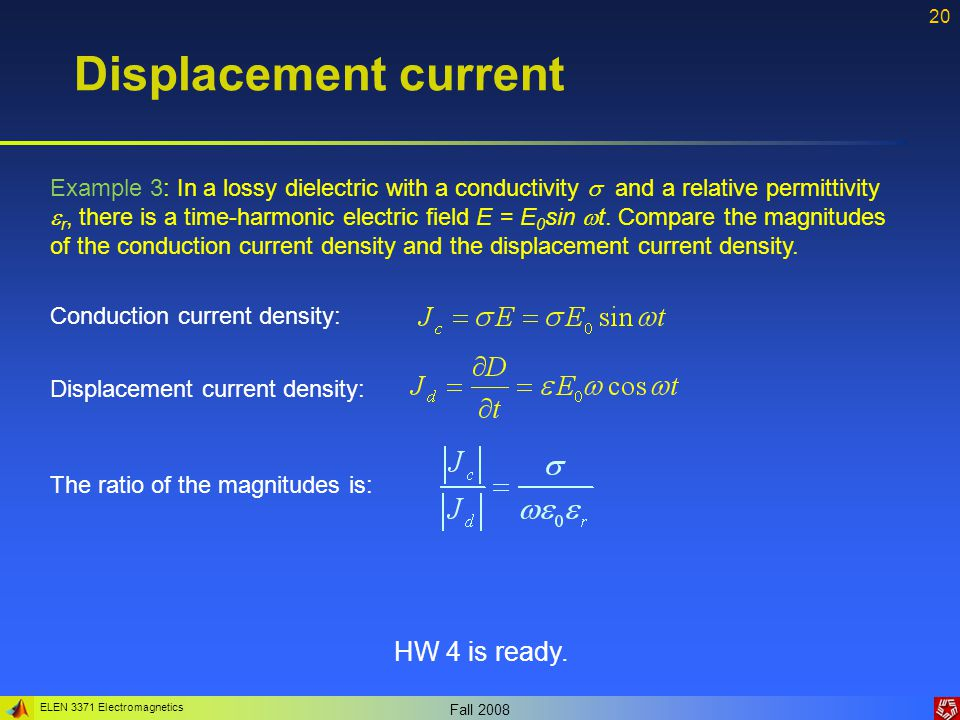 Displacement current HW 4 is ready.