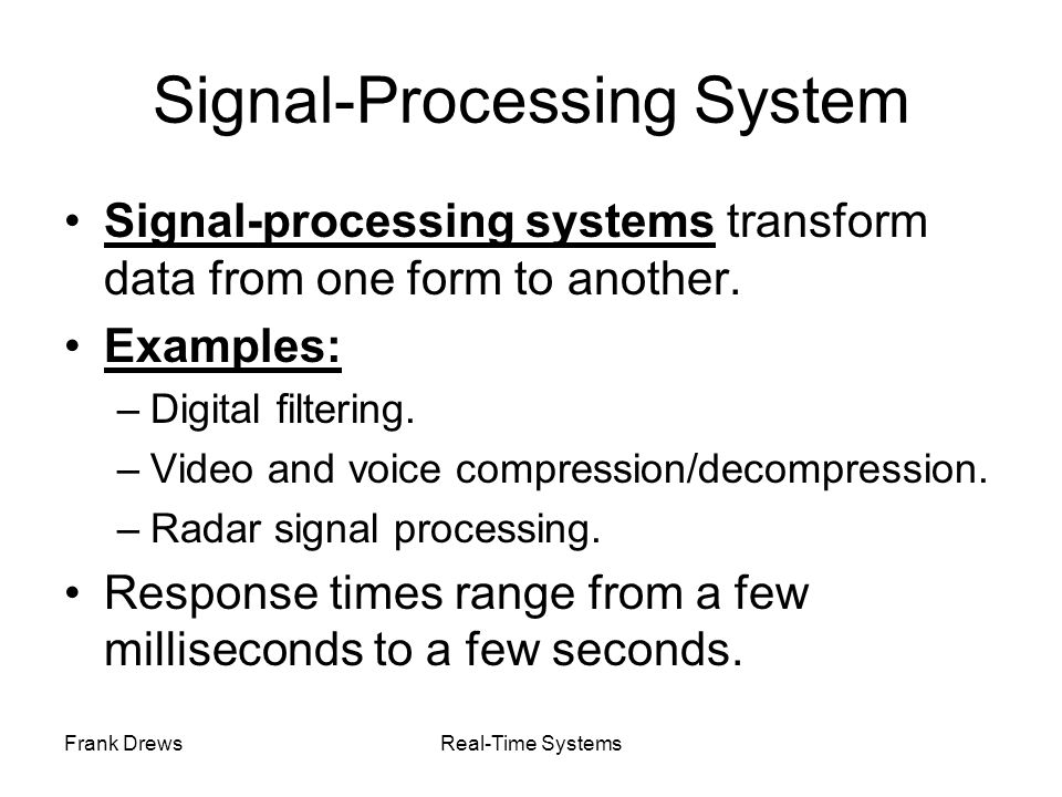 Signal-Processing System