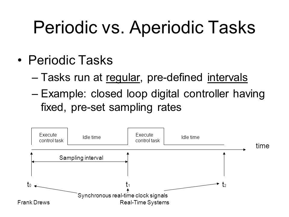 Periodic vs. Aperiodic Tasks