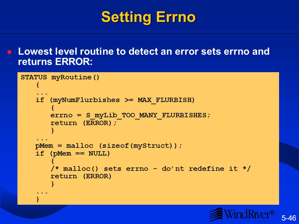 Errno and Context Switches