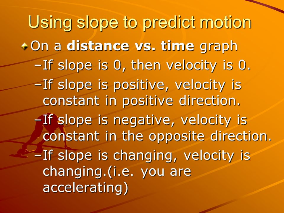Using slope to predict motion
