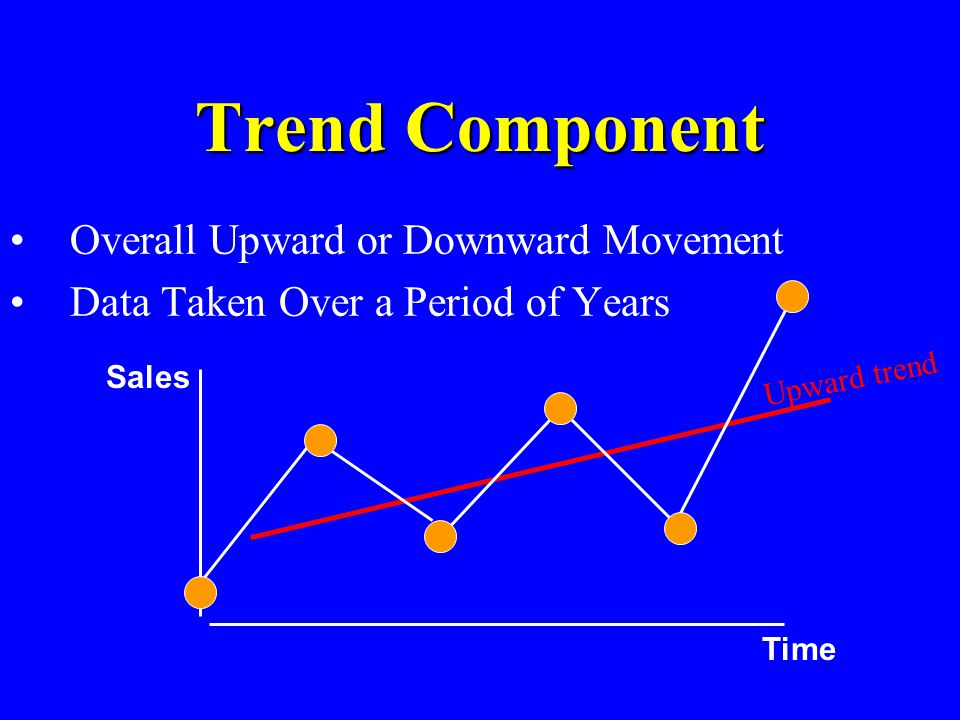 Trend Component Overall Upward or Downward Movement