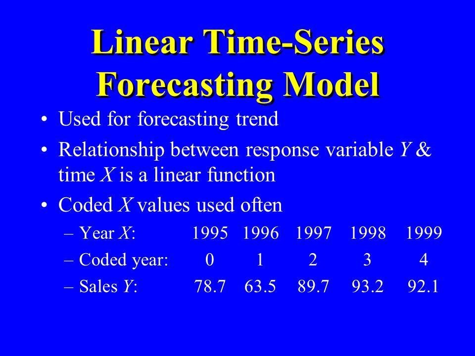 Linear Time-Series Forecasting Model