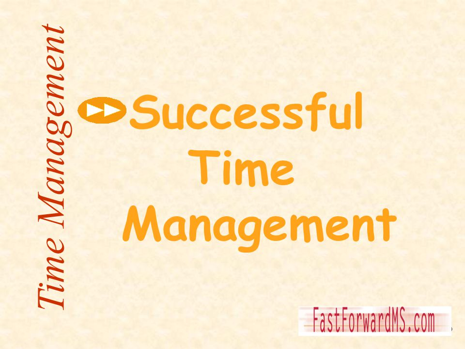 Successful Time Management Time Management