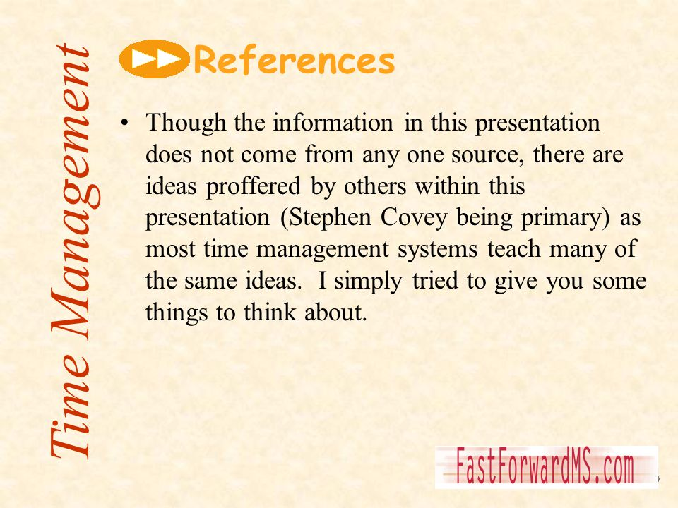 Time Management References