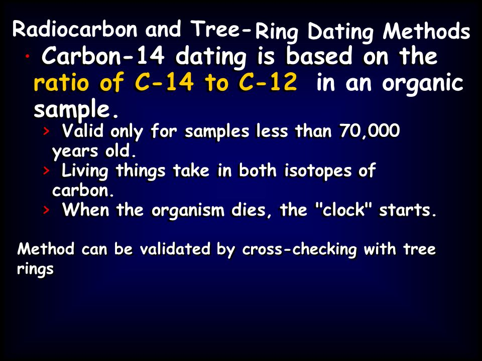Carbon-14 dating is based on the Carbon-14 dating is based on the