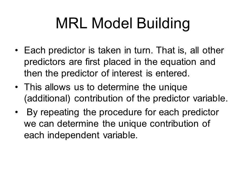 MRL Model Building