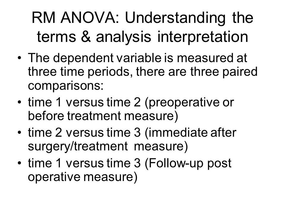 RM ANOVA: Understanding the terms & analysis interpretation