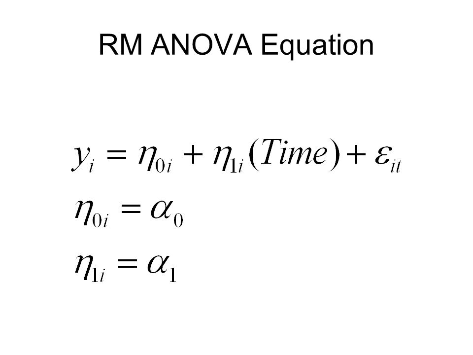 RM ANOVA Equation