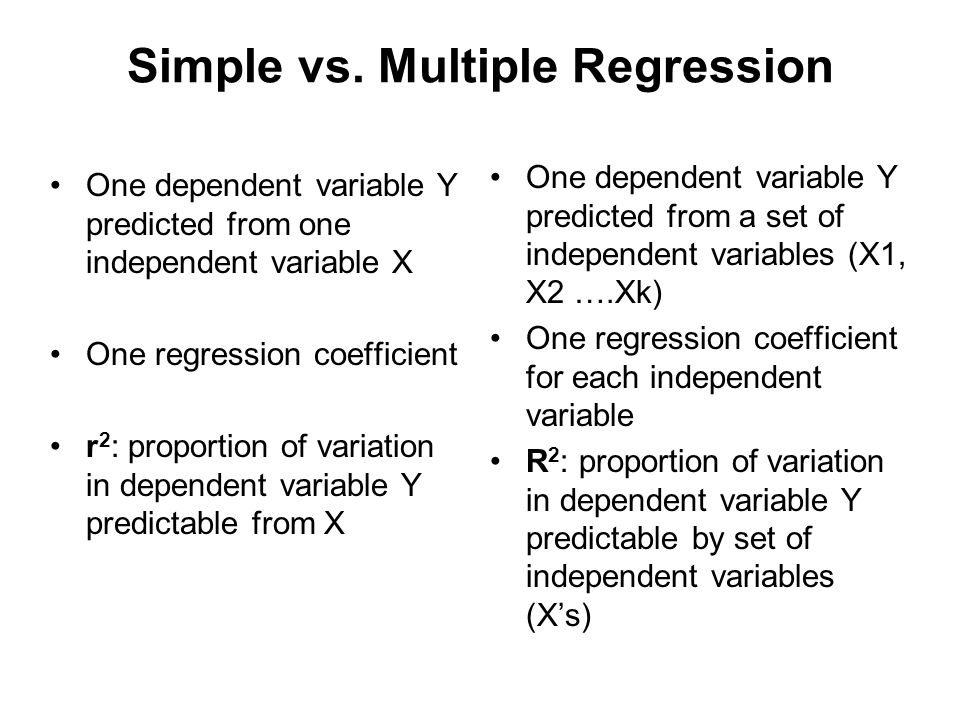 Simple vs. Multiple Regression