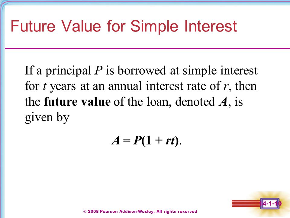 Future Value for Simple Interest
