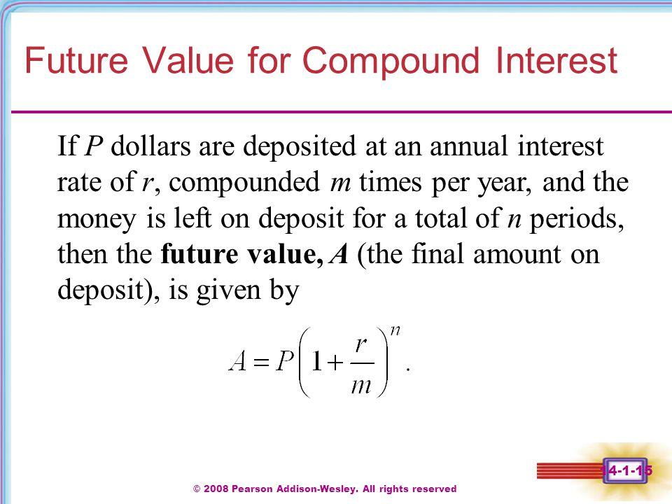 Future Value for Compound Interest