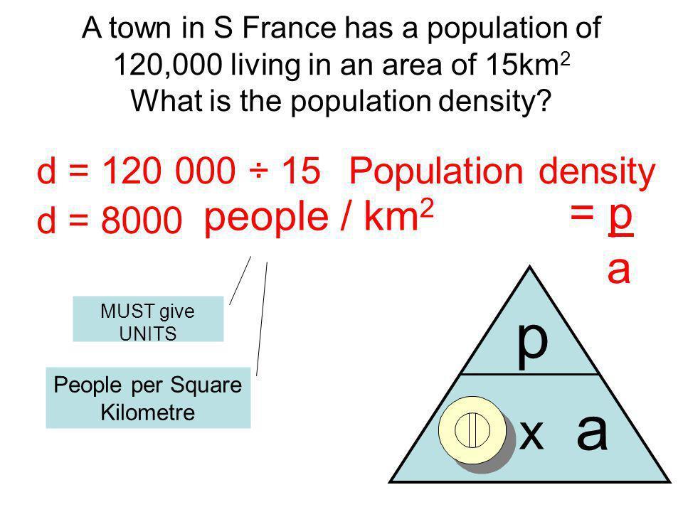 People per Square Kilometre