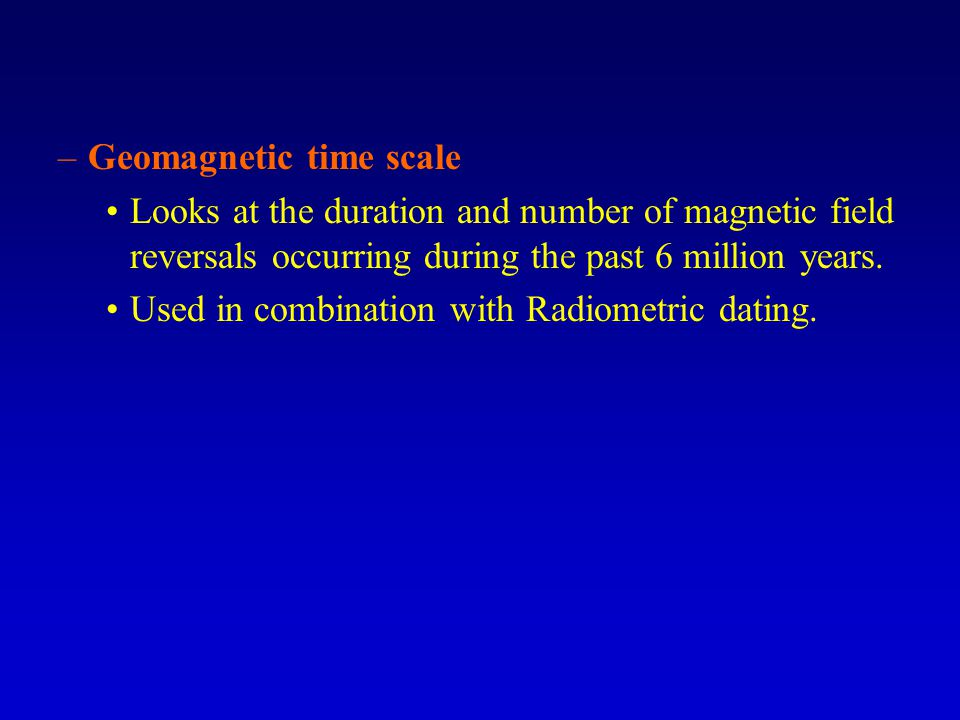 Geomagnetic time scale