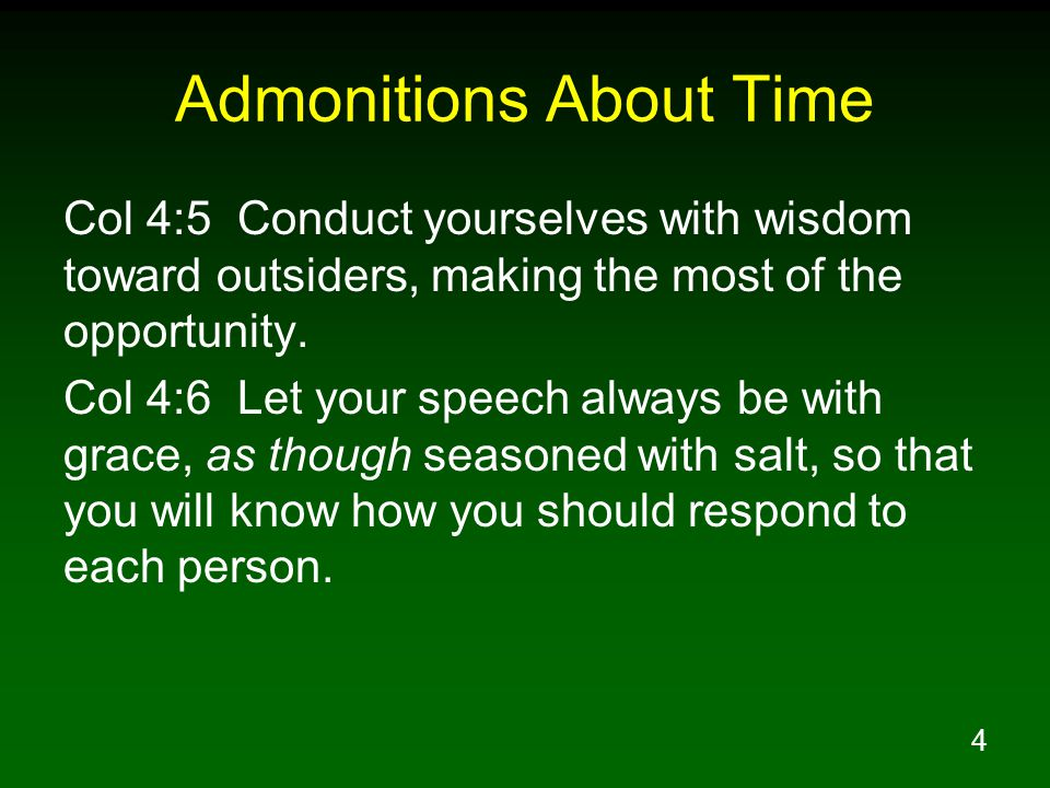 Admonitions About Time