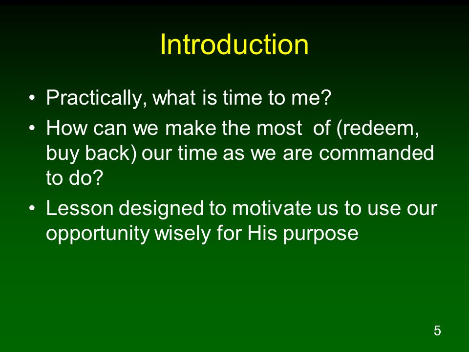 Introduction Practically, what is time to me