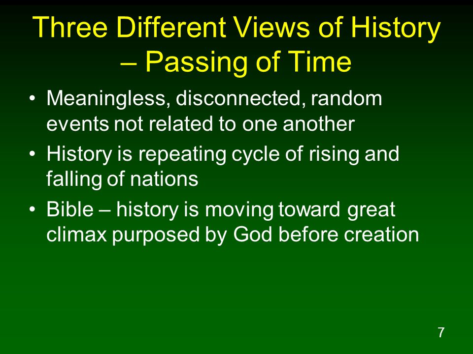 Three Different Views of History – Passing of Time