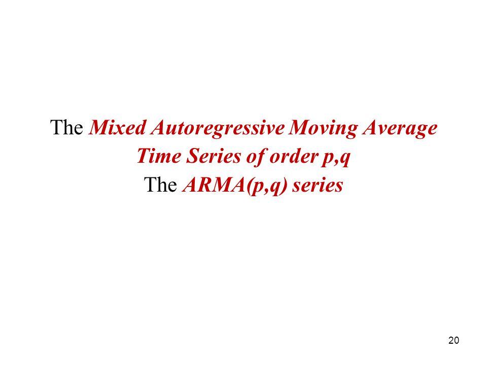 The Mixed Autoregressive Moving Average