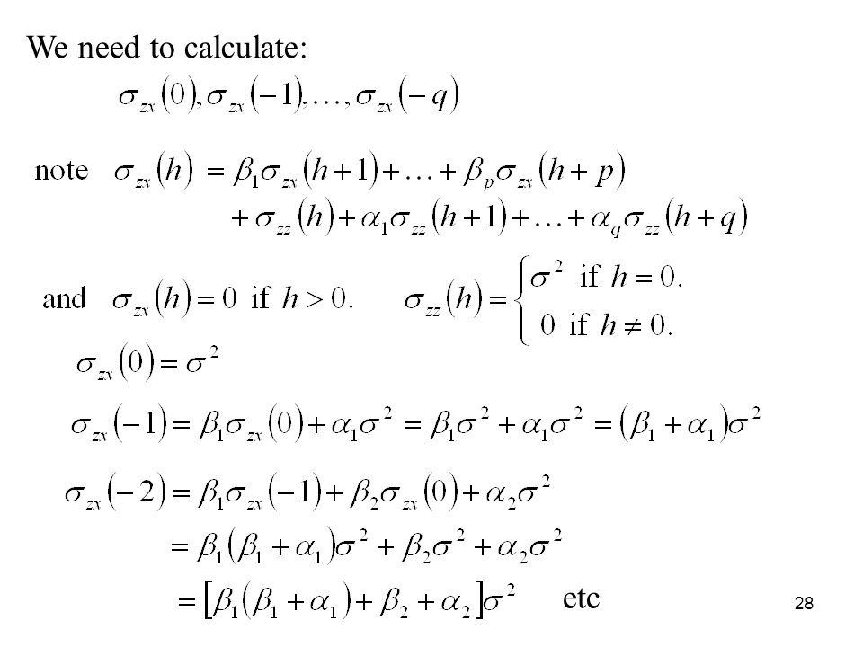 We need to calculate: etc