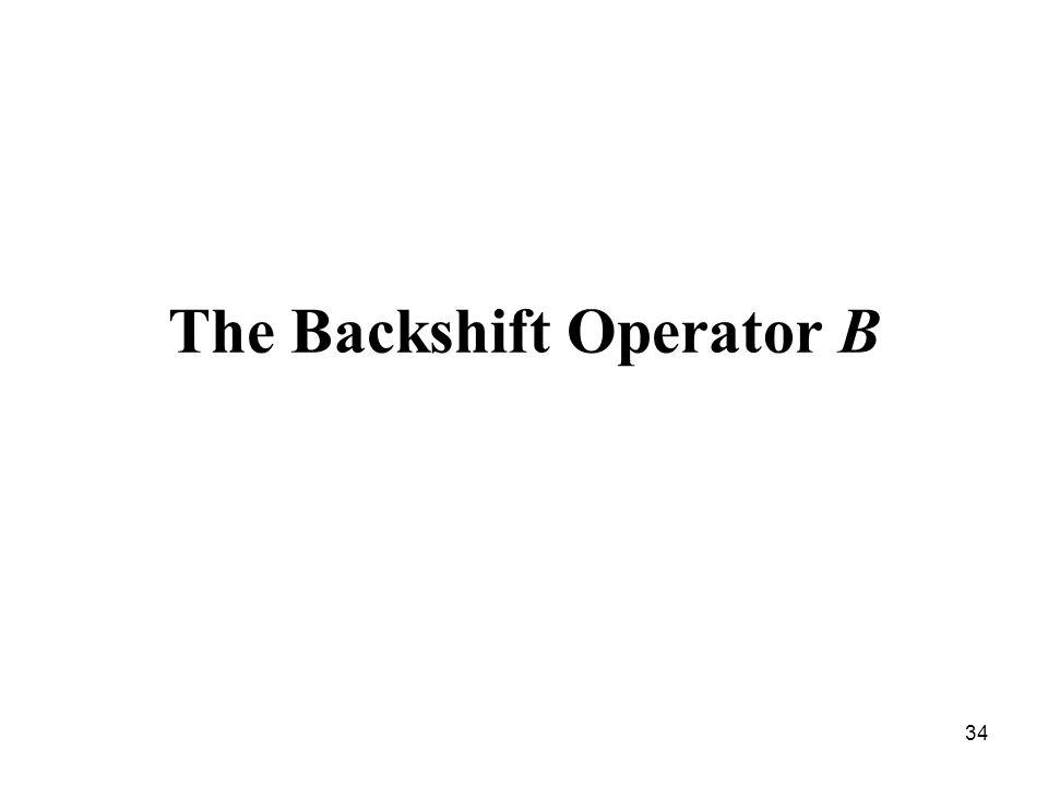The Backshift Operator B
