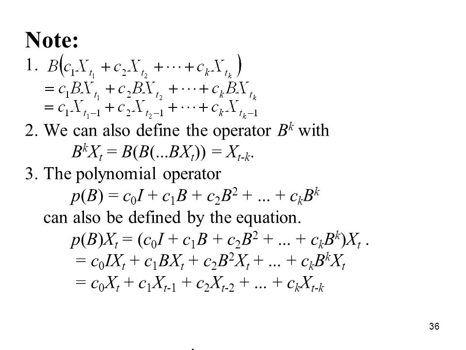 Note: We can also define the operator Bk with