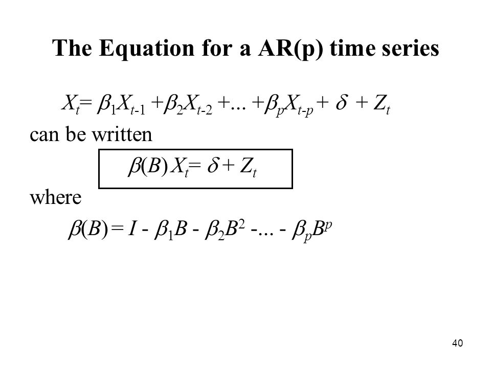 The Equation for a AR(p) time series