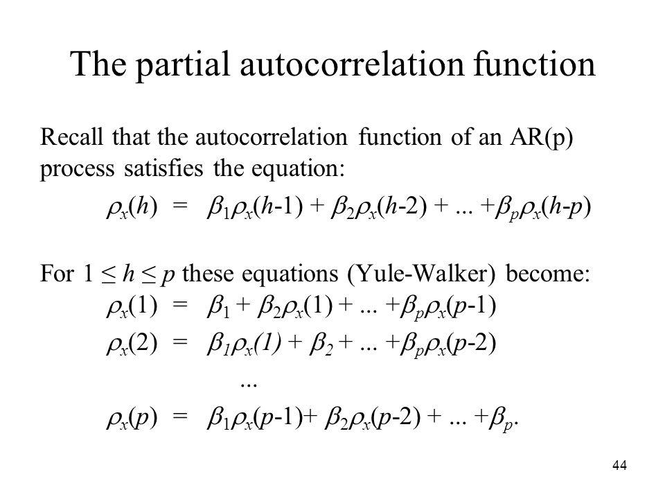 The partial autocorrelation function