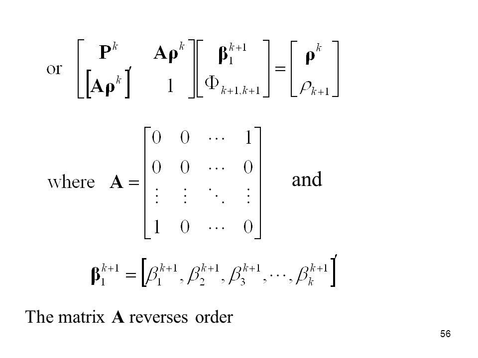 and The matrix A reverses order