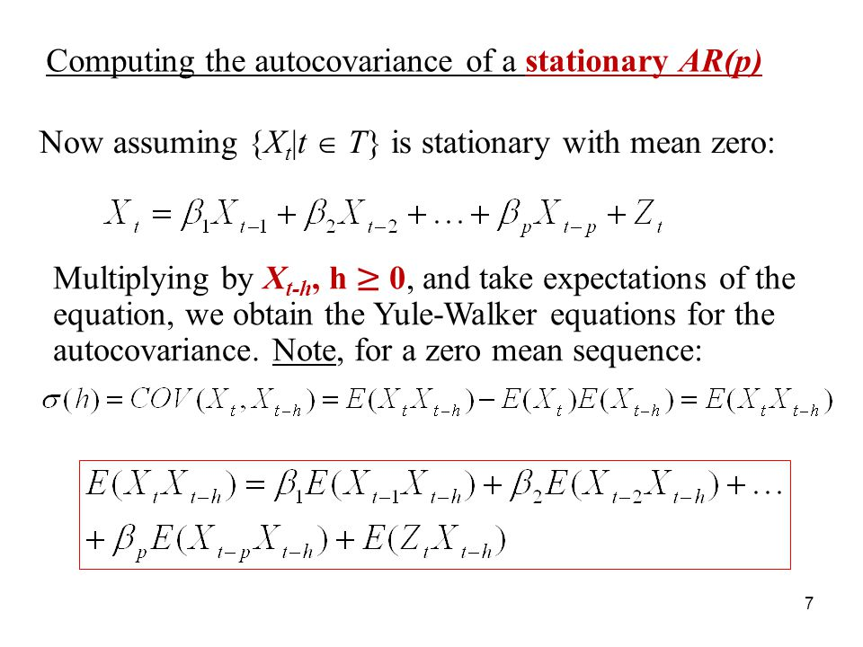 Computing the autocovariance of a stationary AR(p)