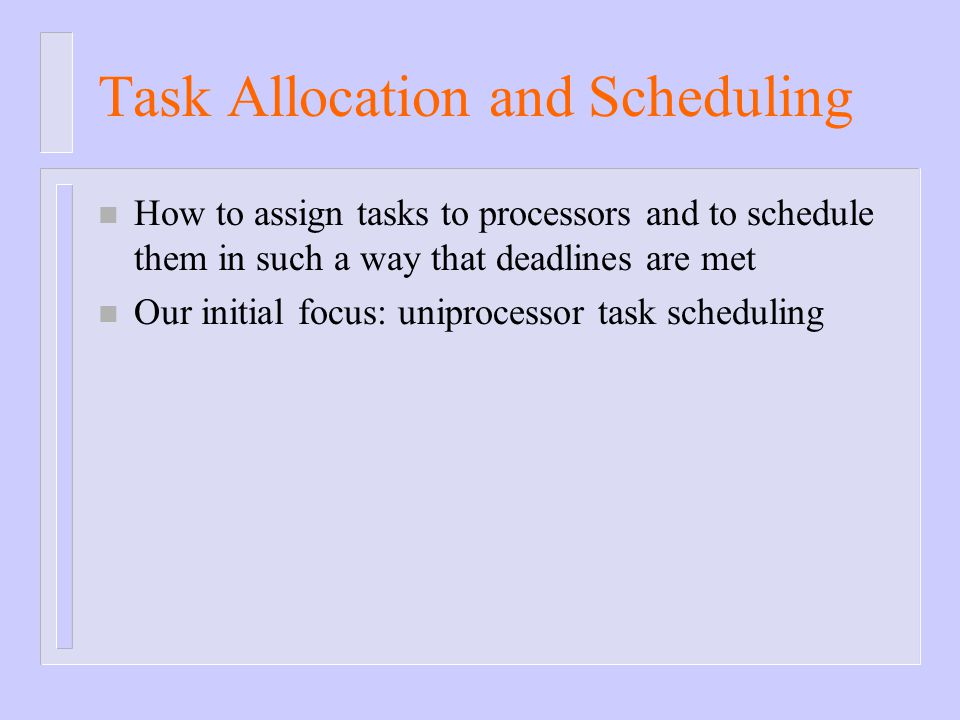 Task Allocation and Scheduling