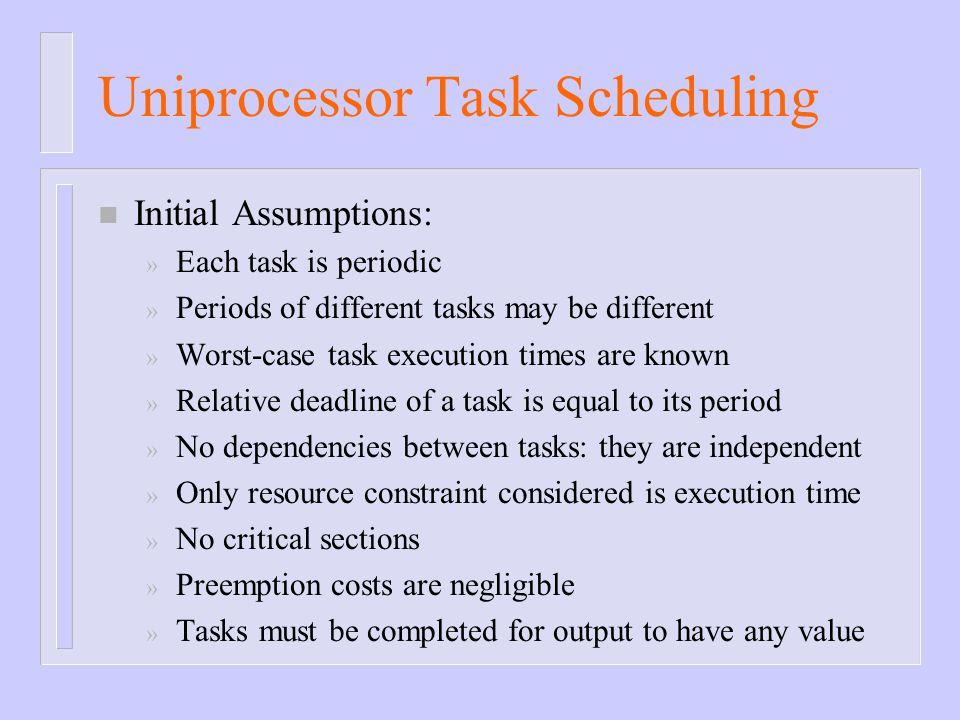 Uniprocessor Task Scheduling