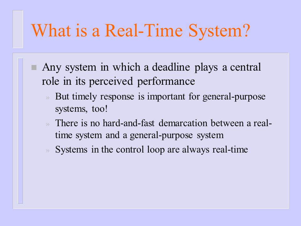 What is a Real-Time System