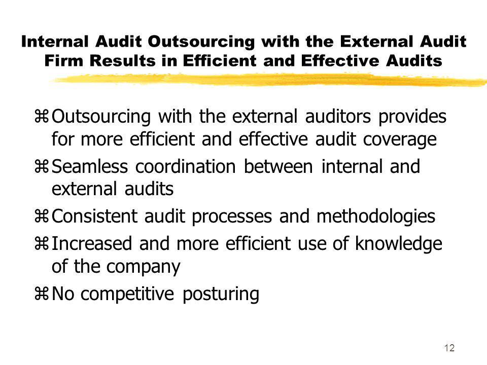 Seamless coordination between internal and external audits