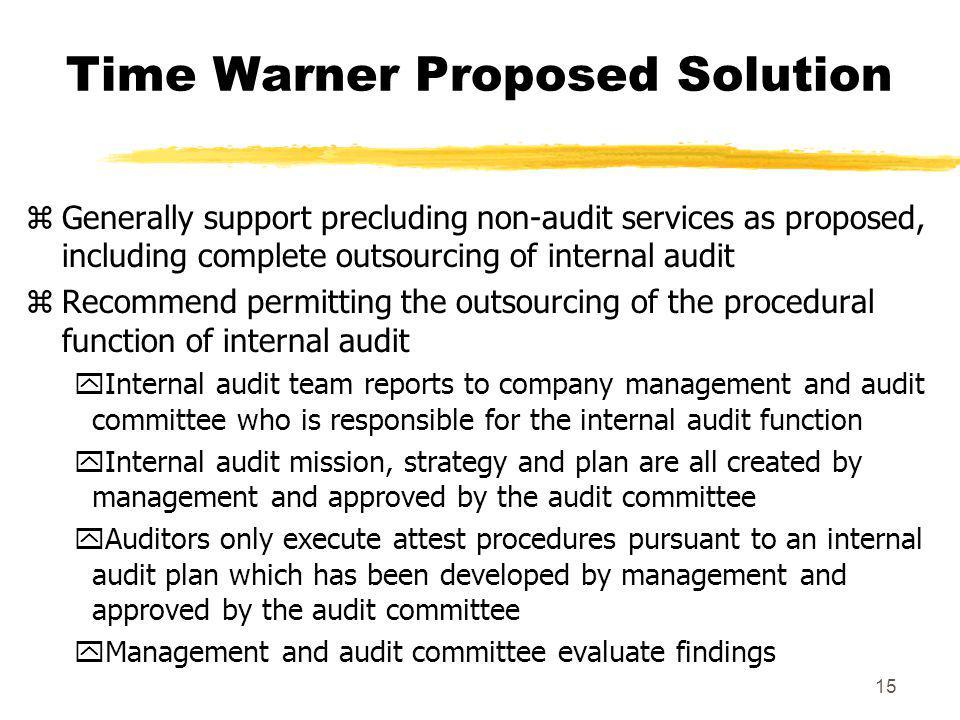 Time Warner Proposed Solution