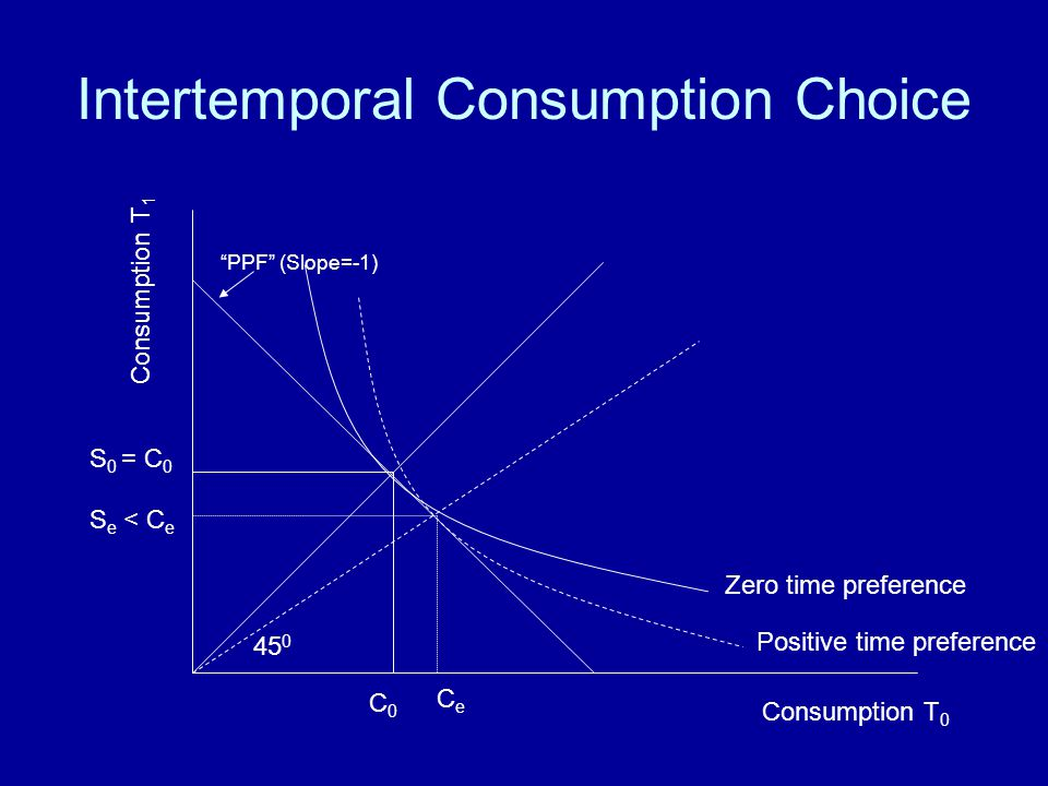 Intertemporal Consumption Choice