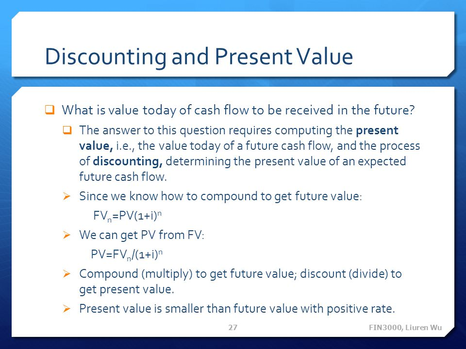 Discounting and Present Value