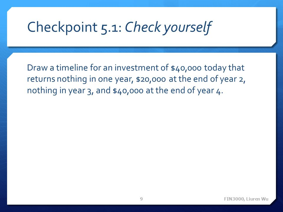 Checkpoint 5.1: Check yourself