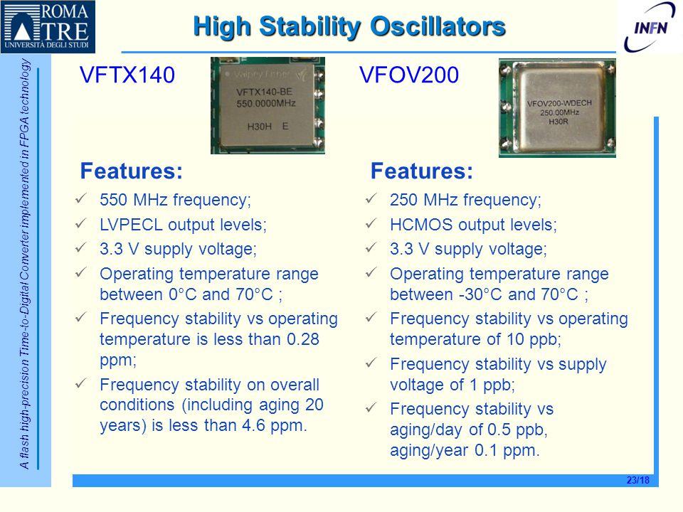 High Stability Oscillators