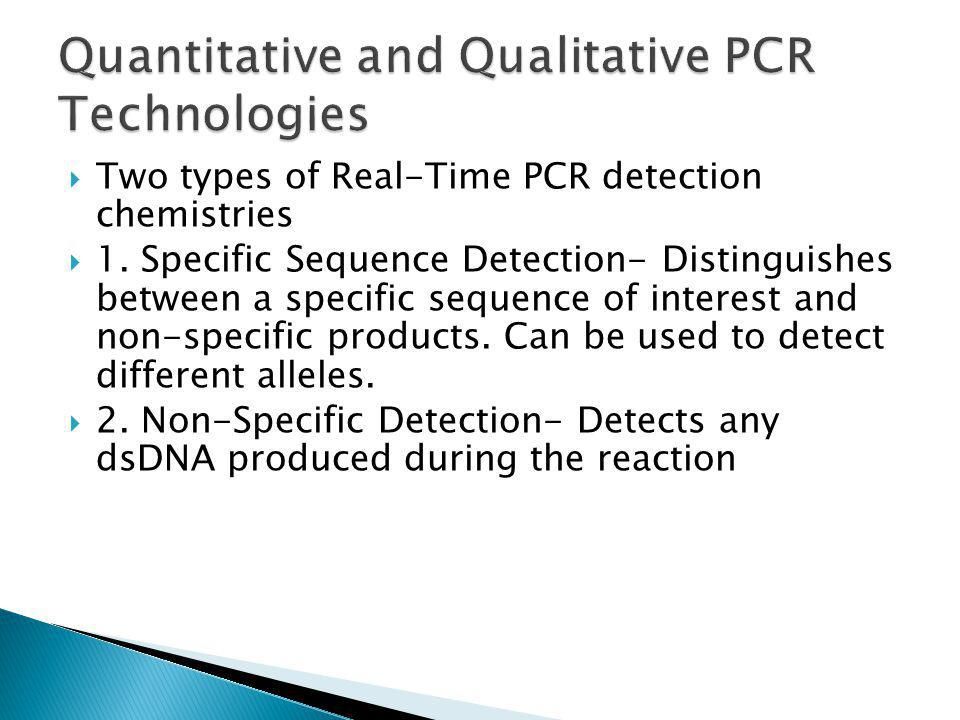 Quantitative and Qualitative PCR Technologies