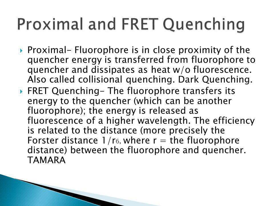 Proximal and FRET Quenching