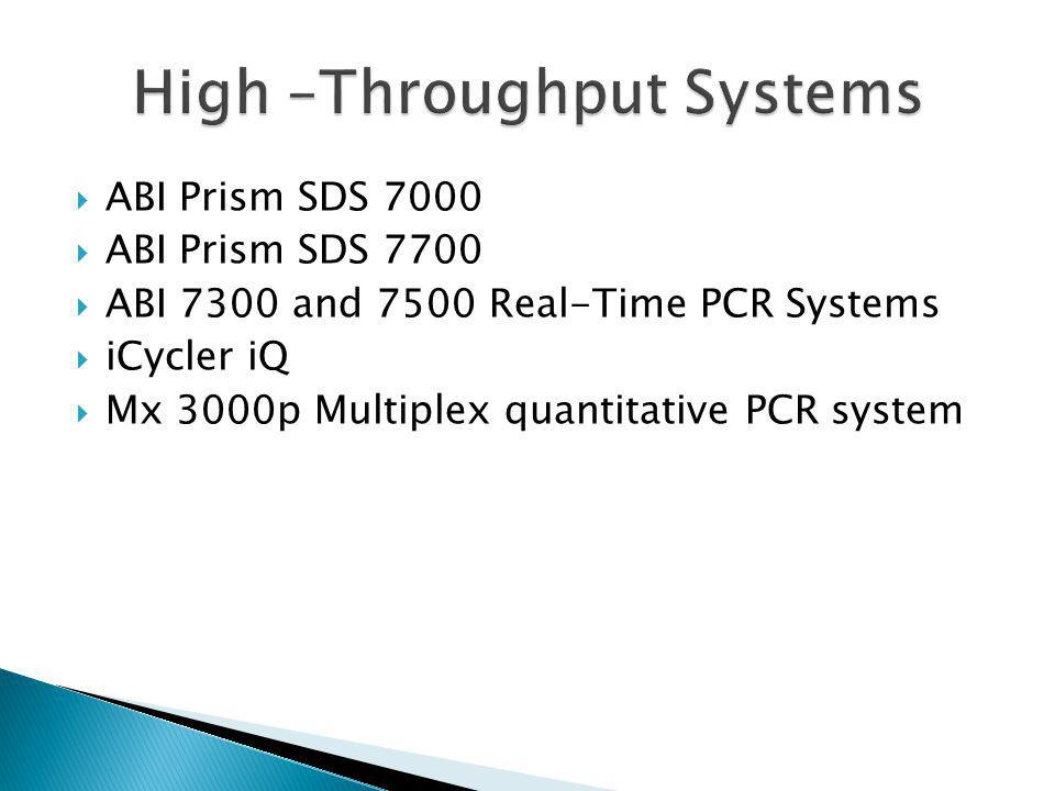 High –Throughput Systems